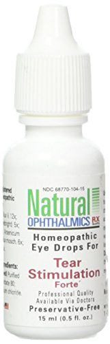 Natural Ophthalmics Tear Stimulation Forte Eye Drops, 0.5 Ounce - Natural Tears Eye Drops