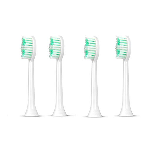 Aiyabrush Electric Toothbrush Replacement Brush Heads, 4 Pack,White