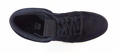 Nike Hommes Air Jordan 1 Mid Basket Chaussure Noir / Noir-gym Rouge-voile