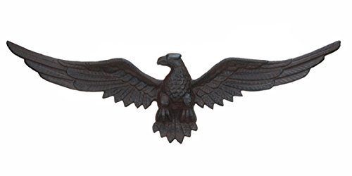 Cast Iron Eagle Plaque Garden Patio Decor New Home Wall Hanging