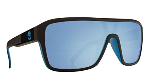 Dragon Alliance The Jam Remix Large Fit Sunglasses, Matte Black/Sky Blue,One - Jam Dragon The Sunglasses
