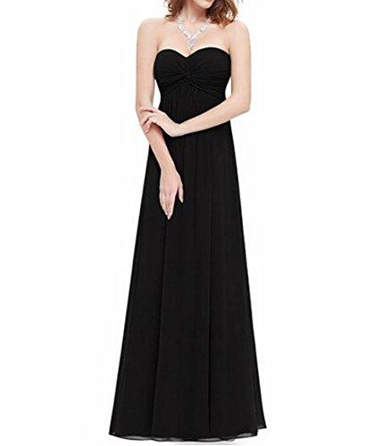 Damen Gerüscht Lang Leader Schwarz Brustumfang Schönheit Kleid der Party Runder Schwarz Ausschnitt 61wYwUIq