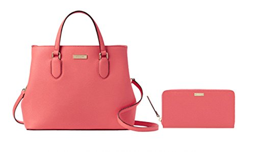Kate Spade New York Laurel Way Evangelie WKRU3930 bundled with matching Neda Wallet WLRU2669 (Warm Guava) by Kate Spade New York
