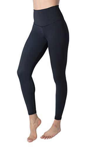 90 Degree By Reflex High Waist Supreme Tummy Control Anti Odor Ankle Length Leggings - Black - Small
