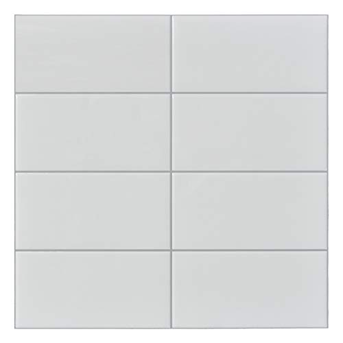 10 Sq.Ft Peel and Stick Tile for Backsplash, Subway Kitchen Tile in White (Grout Line Size For 3x6 Subway Tile)