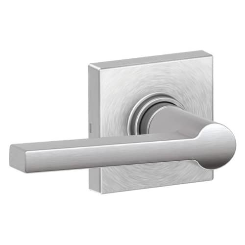 Schlage J10SOL626COL Solstice Passage Door Lever Set with Decorative Colton Trim from The J-Series ()