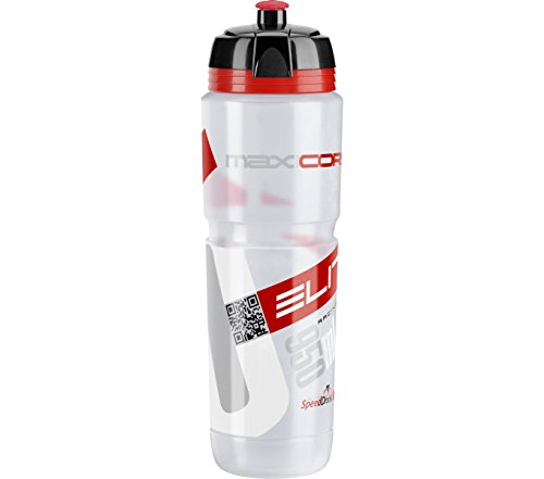 Elite 0102204 Maxi Corsa Water Bottle, Clear/Red