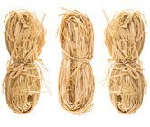 Natural Raffia 3 Bundles, 3oz Tan