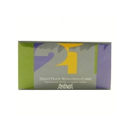 Oligovigor 21 Magnesio Cobre 20 viales de Santiveri