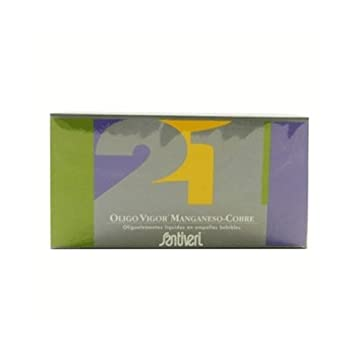 Oligovigor 21 Magnesio Cobre 20 viales de Santiveri: Amazon.es: Salud y cuidado personal