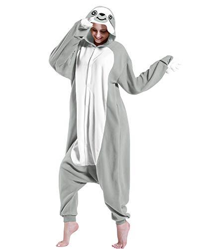 WOTOGOLD Animal Cosplay Costume Gray Sloth Adult Pajamas Gray ()