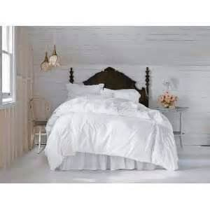 Simply Shabby Chic White Pieced Mesh Lace Ruffle Duvet Cover Set KING