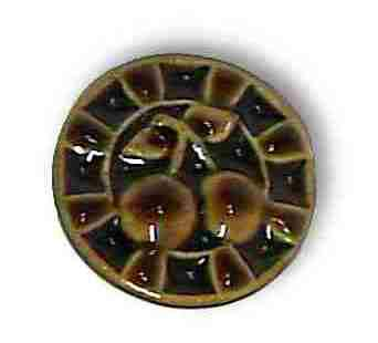 Ceramic Coffee Brown High Relief Cherry Knob Pull 1-1/2