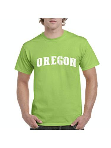 Oregon State Flag Traveler Gift Men's Short Sleeve T-Shirt (LLG) Lime -