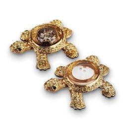 L'Objet Gold Plated Turtle Salt & Pepper Shakers Set of 2
