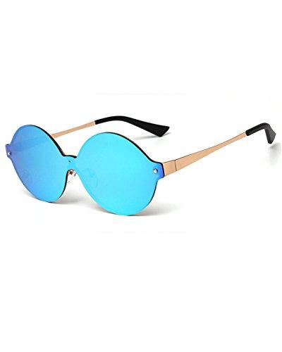 Elvis Costume Designer (Konalla Personalized Rimless One-piece Reflective Lens Unisex Eyeglasses C3)