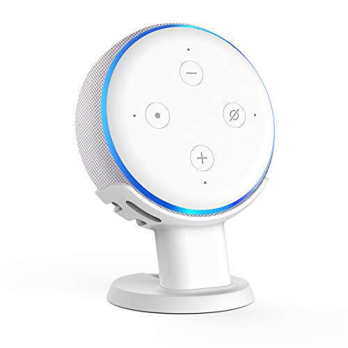 (SPORTLINK Desk Stand Table Holder for Echo Dot 3rd Generation Improves Sound Visibility and Appearance - A Must Have Echo Dot Accessories)