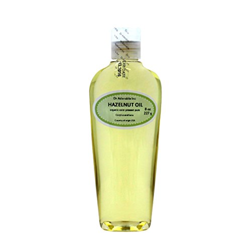 Hazelnut Oil Organic Pure Expeller Pressed by Dr.Adorable 8 Oz ()