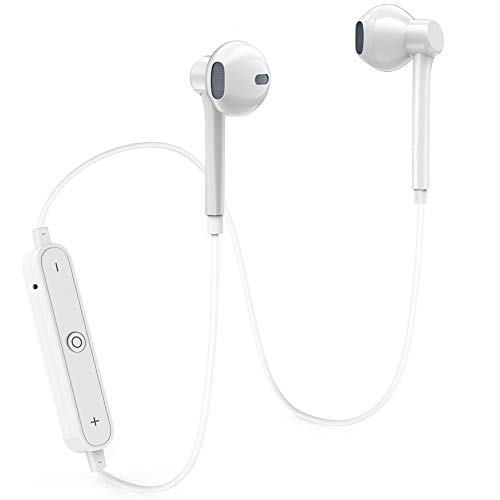 Wireless Earbuds AYNGWRNB Bluetooth Headphones Sport Stereo Headset Noise Canceling SweatProof Earphone Outdoor Running Portable Bluetooth Earphones-White