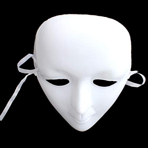 1pcs Hot Adult Plastic Scary White Men Women Mask Halloween Masquerade DIY Dance Party Masks Full Face Ball Costume Masks]()