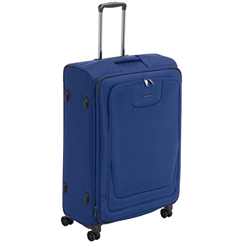 AmazonBasics Expandable Softside Spinner Luggage Suitcase With TSA Lock And Wheels - 29 Inch, Blue (Best Place To Purchase Luggage)