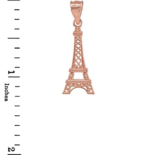 Joyara - Collier Pendentif 14 ct Or Rose Tour Eiffel