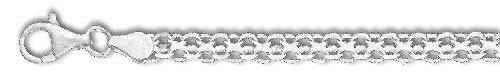 Bismarck Chain - Sterling Silver 30 Inch X 4.0 mm Bismarck Chain Necklace