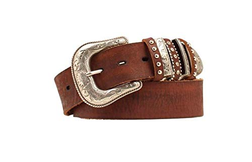 Nocona Belt Co. Women's Multi Keeper Buckle Set Belt, brown, Medium