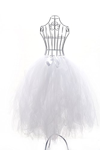 Handmade Tutu Tulle Skirts with Bow Women's Photography Props,80cm (white)