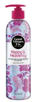 GOOD VIRTUES CO Clarifying Hair & Scalp Shampoo 300ml - Concentrated Cleansing and Removal of Excess Oil from Sticky or Heavy Hair, to Leave Hair Feeling renewed and Eliminate Oily Shine
