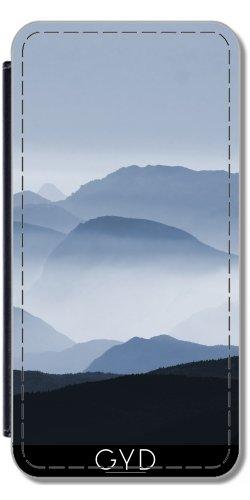 Leder Flip Case Tasche Hülle für Apple Iphone 7 / Iphone 8 - Blaue Landschaft II by Grab My Art