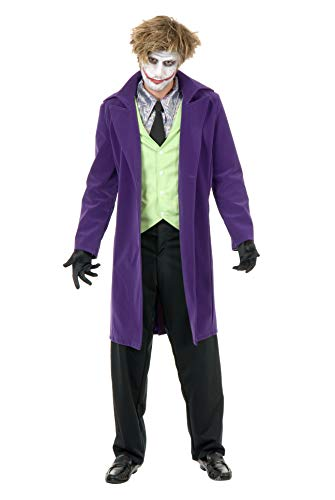 Charades Men's Psycho Clown Jacket, Purple,