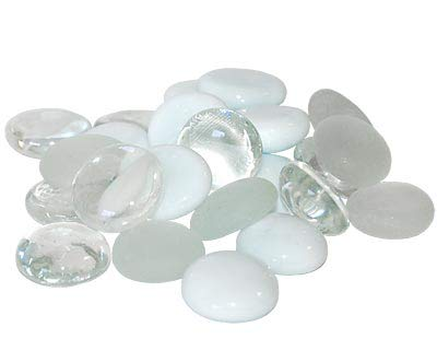 (BestNest Panacea Decorative Glass Gems, Glacier White, 10.5 lbs.)