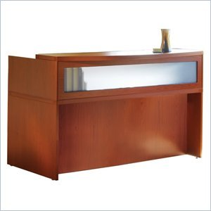 Mayline Aberdeen 72'' Reception Desk in Cherry by Mayline