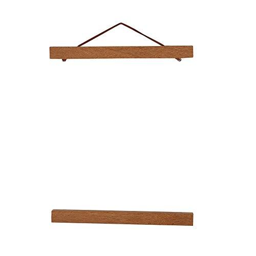 Wooden Photo Frame Modern Magnetic DIY Custom Poster Scroll Prints Artwork Hanger Teak Wood (21cm) ()