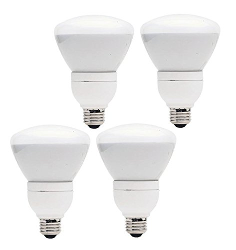 Set of 4 GE Lighting CFL 15W (65W Equivalent) R30 Soft White Directional Flood Light Dimmable 7 Year Life E26 Base