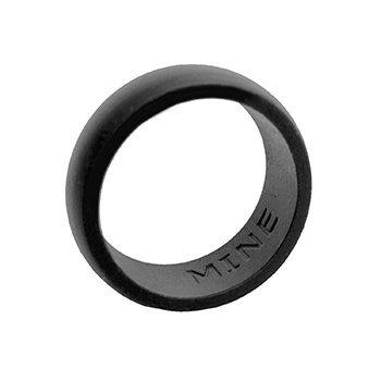 Silicone Wedding Ring for Women or Men (10, Black) (Gold Embossed 14k Ring)