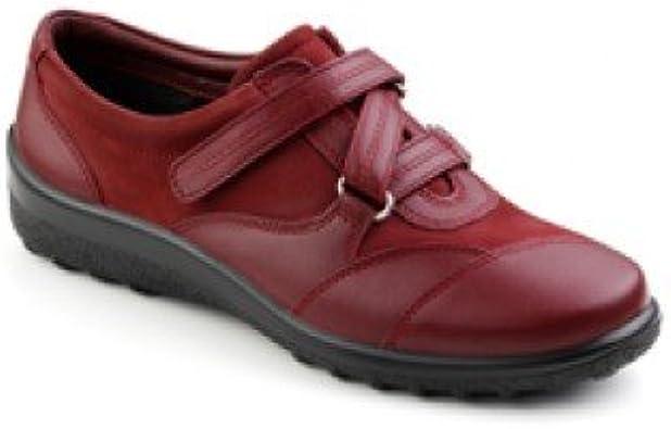 Hotter Women's Red Nubuck Blaze Shoe