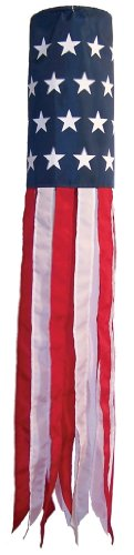 In the Breeze Stars and Stripes Printd Star Windsock, 6
