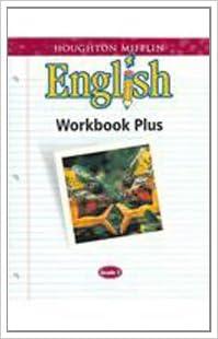Houghton Mifflin English: Workbook Plus Consumable Grade 7