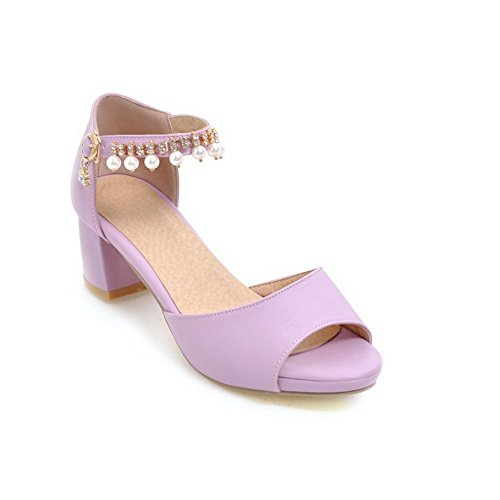Viola heels Sandali Sandals Kitten Massiccio Womens Balamasa In Uretano Asl04815 qxzwtSI