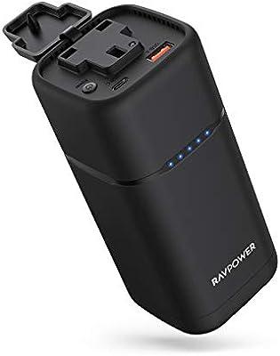Cargador portátil CA RAVPower 20000 mAh 80W CA Power Bank con 30W PD USB C Salida