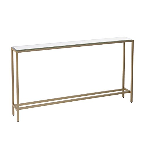 A Skinny Console Table can be a nightstand substitute in a small bedroom