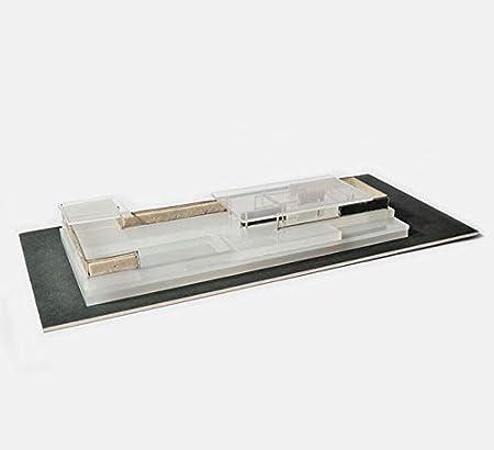 Mies Modelo Pabellón Barcelona 1:300 - Maqueta artística de edición Limitada Hecha de minerales y Piezas de joyería: Amazon.es: Juguetes y juegos