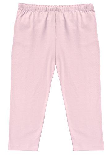 CAOMP Girl's Capri Crop Leggings, Organic Cotton Spandex, School or Play Pink 3 / 4 - Organic Cotton Crop