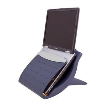 Built-in 4-port USB 2.0 Desktop Laptop Holder in Blue