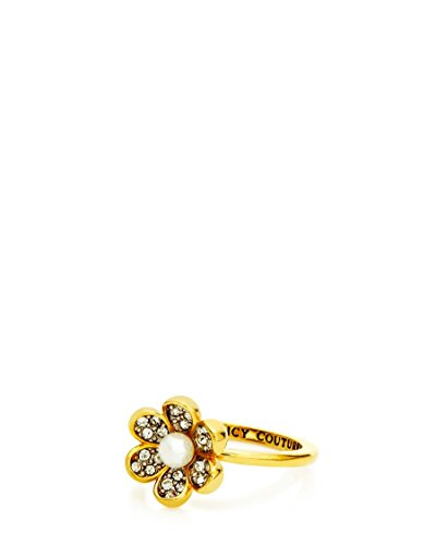 Juicy Couture Pave Flower with Pearl in Center - Ring Size 7