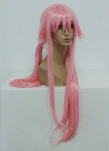 COSPLAZA Cosplay disfraz Wigs Peluca 100 cm larga duro Pink Rosa The Future Diary Gasai Yuno Party Cabello: Amazon.es: Salud y cuidado personal