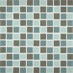 MS International Majestic Ocean 1 in. x 1 in. Glass Mesh-Mounted Mosaic Tile - Box of 5 - Mesh Mounted Tile Glass