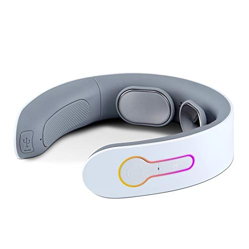 iRest Electric Pulse Neck Massager Portable Intelligent Massager with Hot Compress and Massage, Use at Home, Car, Office